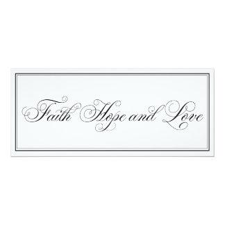 エレガントな信頼の希望愛原稿の結婚式招待状 10.2 X 23.5 インビテーションカード