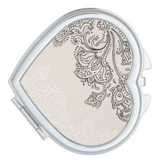 エレガントな円形の密集した鏡