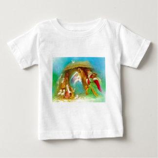 エレガントな出生場面、メリーイエス・キリストヨセフ ベビーTシャツ