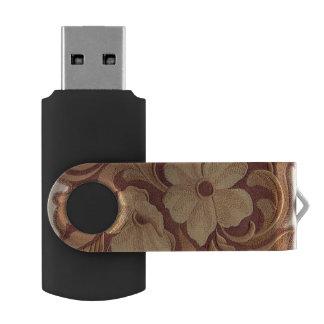 エレガントな刺繍の花 USBフラッシュドライブ
