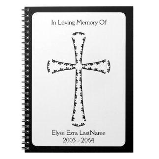 エレガントな十字の葬儀の本 ノートブック