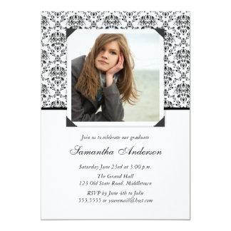 エレガントな卒業の招待状の発表 カード