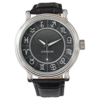 エレガントな占星術のシンボルや象徴- 12の(占星術の)十二宮図の記号 腕時計