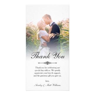 エレガントな原稿の上敷の結婚式の写真は感謝していしています カード