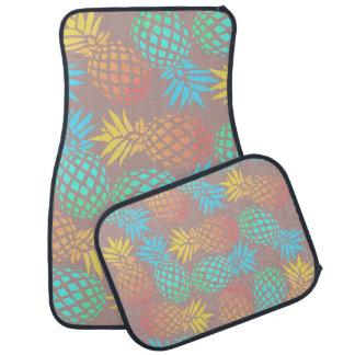 エレガントな夏の熱帯多彩なパイナップルパターン カーマット