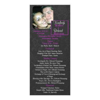 エレガントな夢の結婚式プログラム ラックカード