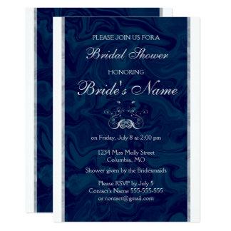 エレガントな大理石のブライダルシャワーの招待状 カード