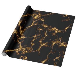 エレガントな大理石style3 -黒い金ゴールド ラッピングペーパー