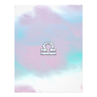 エレガントな天秤座の(占星術の)十二宮図の印の真珠色のスタイル レターヘッド