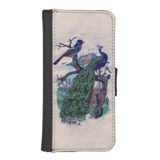 エレガントな孔雀および鳥のヴィンテージのフランス語 iPhoneSE/5/5sウォレットケース