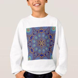 エレガントな孔雀のフラクタル スウェットシャツ