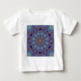 エレガントな孔雀のフラクタル ベビーTシャツ