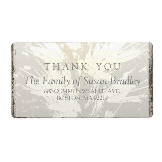 エレガントな家族は宛名ラベル感謝していしています ラベル