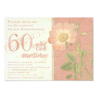 エレガントな庭師の第60誕生日のヴィンテージは上がりました カード