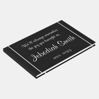 エレガントな悔やみや弔慰の葬式のゲストブック ゲストブック