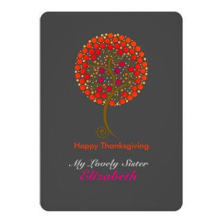 エレガントな感謝している木の感謝祭 12.7 X 17.8 インビテーションカード