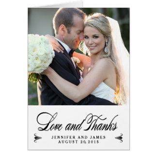 エレガントな感謝は結婚する 写真のメッセージカード感謝していしています ノートカード