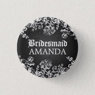 エレガントな新婦付添人の好意のビクトリアンな華麗さの黒 3.2CM 丸型バッジ