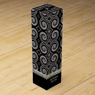 エレガントな暗灰色の渦巻 ワインギフトボックス