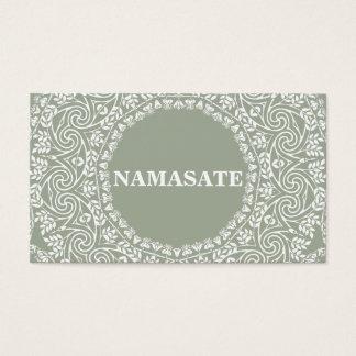 エレガントな曼荼羅のナマステのヨガのロゴの芸術 名刺