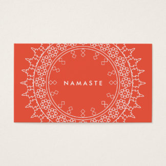 エレガントな曼荼羅のナマステのヨガの珊瑚の名刺 名刺