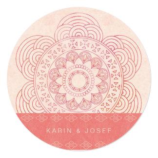 エレガントな曼荼羅のBohoのシックな結婚式 カード