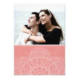 エレガントな曼荼羅のBohoの上品の保存日付 カード