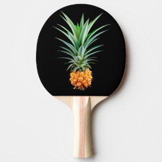 エレガントな最小主義のパイナップル 黒い背景 卓球ラケット