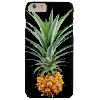 エレガントな最小主義のパイナップル|黒い背景 BARELY THERE iPhone 6 PLUS ケース