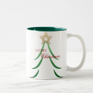 エレガントな木のマグ ツートーンマグカップ