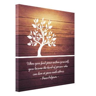 エレガントな木のヨガの黙想のインストラクターの引用文 キャンバスプリント