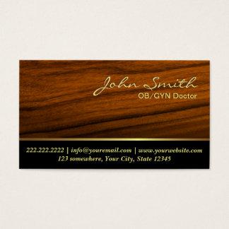 エレガントな木製の穀物OB/GYNの名刺 名刺