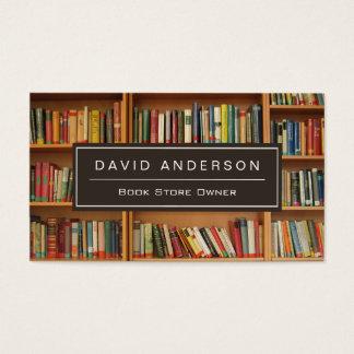 エレガントな本屋の書店の所有者の本だな 名刺
