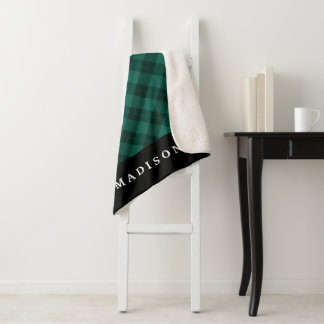 エレガントな格子縞|名前入りなSherpa毛布 シェルパブランケット
