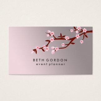 エレガントな桜の春のピンクの名刺 名刺