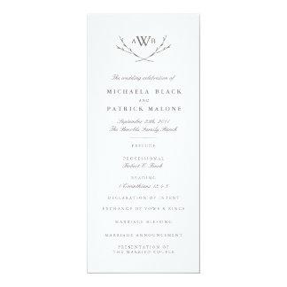 エレガントな森林結婚式プログラム 10.2 X 23.5 インビテーションカード