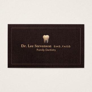 エレガントな歯科医の歯のロゴのオフィスのアポイントメント 名刺