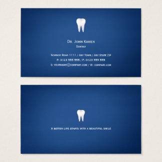 エレガントな歯科|の青 名刺