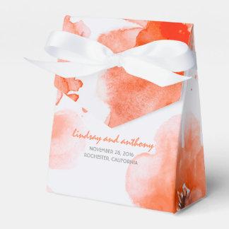 エレガントな水彩画によっては結婚式が開花します フェイバーボックス