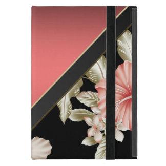 エレガントな洗練された珊瑚の赤-花 iPad MINI ケース