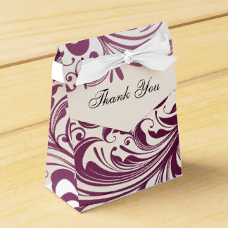エレガントな渦巻の好意かギフトのテント箱-紫色 フェイバーボックス