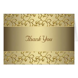 エレガントな渦巻の金ゴールドは感謝していしています カード
