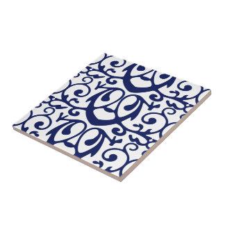 エレガントな濃紺および白パターンセラミックタイル タイル