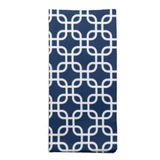 エレガントな濃紺幾何学的なパターン ナプキンクロス