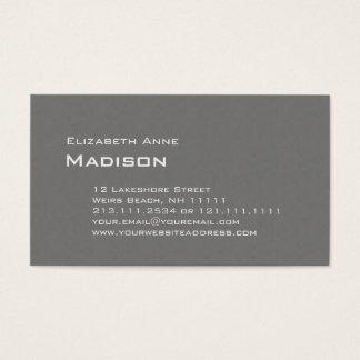 エレガントな灰色の織り目加工のモノグラムのクラシック 名刺