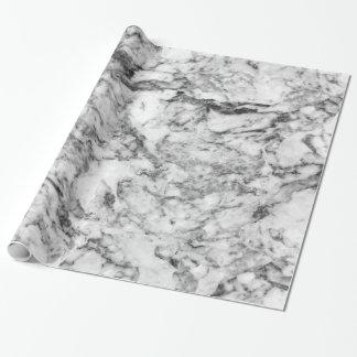 エレガントな灰色白のモダンな大理石の質パターン ラッピングペーパー