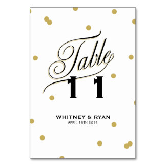 エレガントな点の金ゴールドのテーブルカード