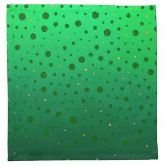 エレガントな点-緑の金のセントパトリックの日 ナプキンクロス