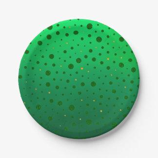 エレガントな点-緑の金のセントパトリックの日 ペーパープレート