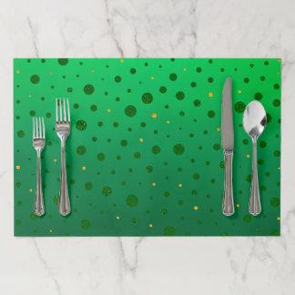 エレガントな点-緑の金のセントパトリックの日 ペーパーランチョンマット